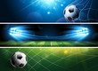 Soccer Banners. Vector
