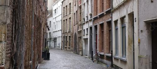 Wall mural Street in the old center of Antwerp, Belgium.