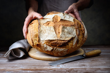 Traditional loaf bread