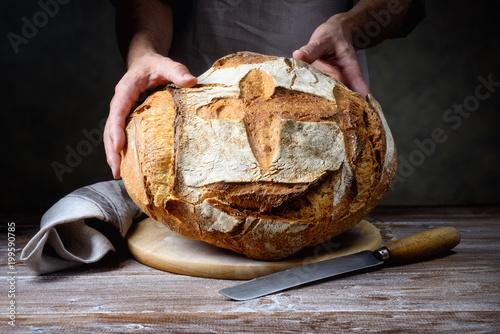 Fototapeta Traditional loaf bread
