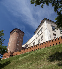 Wawel Castle in Poland. Cracow in a first capital of Poland.
