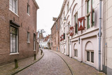 The ancient streets in the  city center of Amersfoort Netherlands