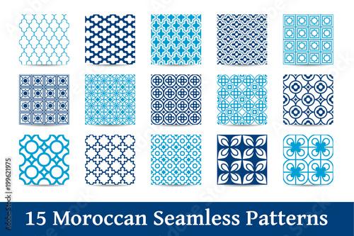 kolekcja wzorów marokańskich