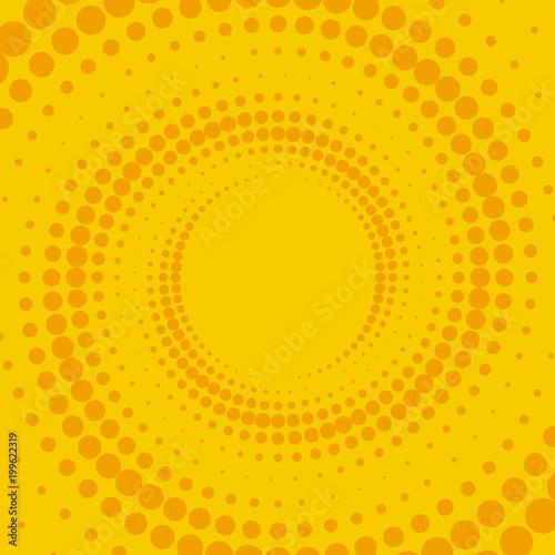 Fotobehang Pop Art Желтый и оранжевый ретро комический фон. Векторные иллюстрации в стиле поп-арт.