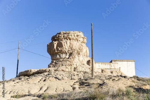 ruins of La Peñota (castle) tower of Aguilar de Montuenga village, Province of S Poster