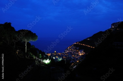 Foto op Plexiglas Donkerblauw 南イタリア、アマルフィの風景