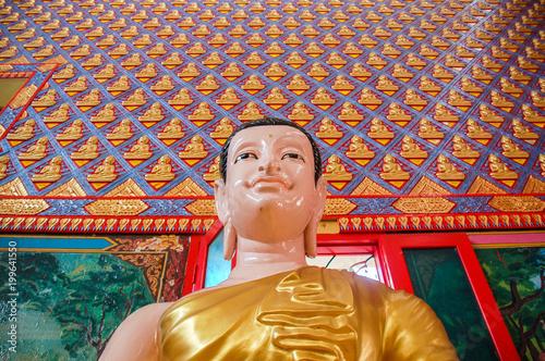 Fotobehang Boeddha Wat Chaiyamangalaram, Thai temple with sleeping Buddha in Penang, Malaysia