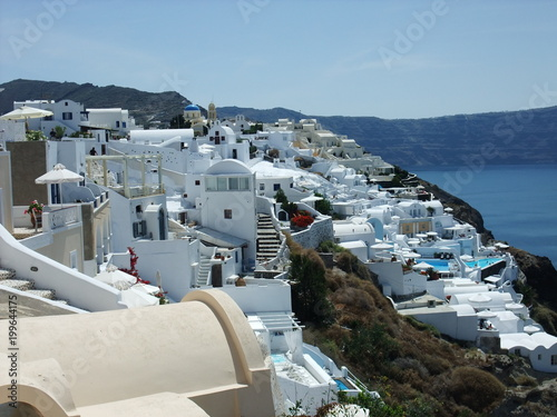 Tuinposter Santorini サントリーニ島 イア ギリシャ