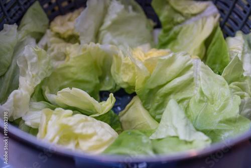 Foto Murales Salat in der Salatschleuder