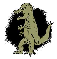 rebel cartoon dinosaur