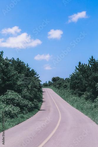 Fotobehang Khaki The road to the sky