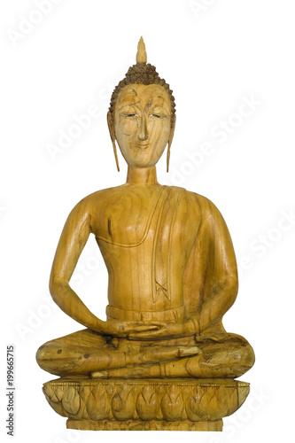 Fotobehang Boeddha wooden buddha
