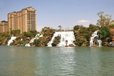 Kunming Waterfall Park in Kunming, China became the largest waterfall park in Asia