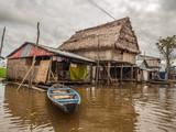 Floating houses in Belen, Iquitos