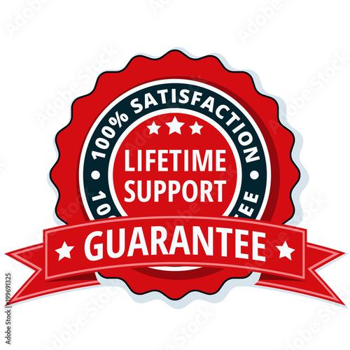 Lifetime Support guarantee label illustration