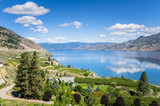 View of the Okanagan Lake under Blue Sky on a Sunny Summer Day and Reflection in Water. Penticton, BC, Canada. - 199691525