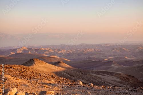 Foto op Aluminium Cappuccino Negev natural reserve, part of Israel National Trail in Judaean Desert