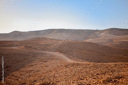 Negev natural reserve, part of Israel National Trail in Judaean Desert - 199693777