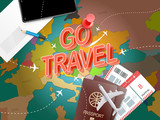 Go travel. Vacation concept with accessories