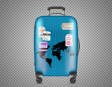 Blue bag isolated on transparent background. Layered and detailed illustration