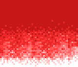 Red mosaic background. Abstract vector pattern