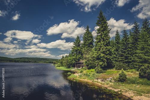 Fotobehang Nachtblauw lake