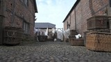 Old Period Washing Yard with laundry and baskets. - 199719543