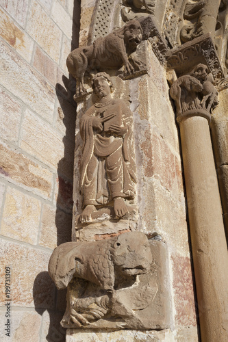 Detail in the church of the Monastery of Leire, Navarre, Spain