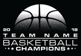 Basketball Champions Design With Team Name is an illustration of a stylized one color basketball design that can be used for t-shirts, flyers, ads or anything else you use to promote your team.