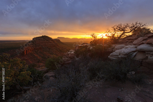 Foto op Aluminium Chocoladebruin Sunset in Bears Ears, Utah, USA.