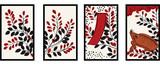 花札のイラスト 7月萩 萩に猪 日本のカードゲーム  ベクターデータ  手描き・フリーハンド  - 199748528