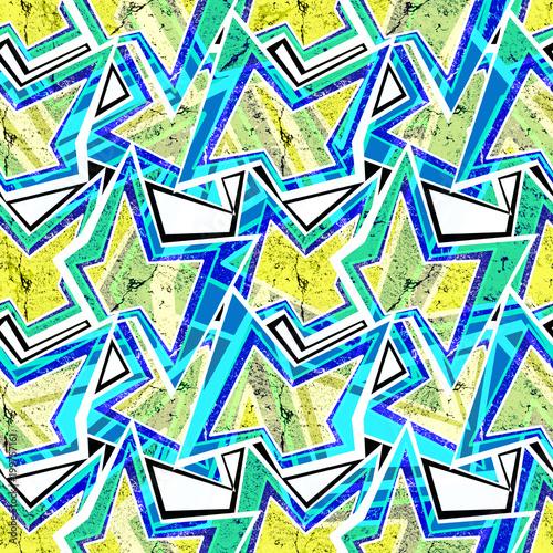 Seamless colorful abstract graffiti pattern.