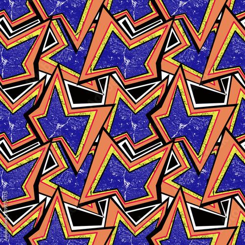 Fotobehang Graffiti Seamless colorful abstract graffiti pattern.