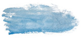 blue watercolor stain. Isolated on white background texture, element for design.