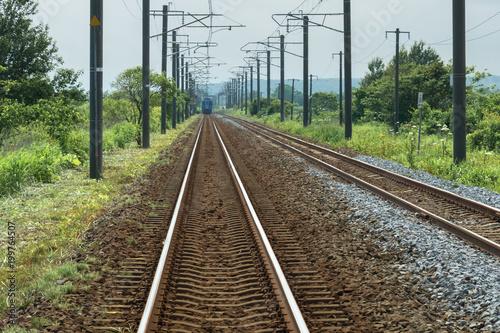 Plexiglas Spoorlijn 田舎の線路