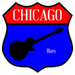 Chicago Blues Guitar Highway Sign