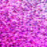 Abstract tiled triangle polygon background - gradient vector mosaic illustration