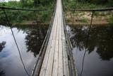 Fototapeta Fototapety mosty linowy / wiszący - drewniany most linowy kładka na rzece © Jan