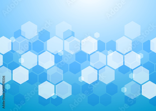 Abstract Blue Background_Honeycomb Structure #Vector Graphics