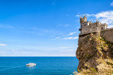 Amazing view of Swallow's Nest castle in Crimea
