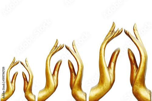Fotobehang Boeddha The Hand of the Golden Buddha