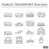 Set of public transport icons.