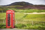Public Phone Box, Ellishadder, near Staffin, Trotternish Peninsula, Isle of Skye, Scotland, United Kingdom - 199809197
