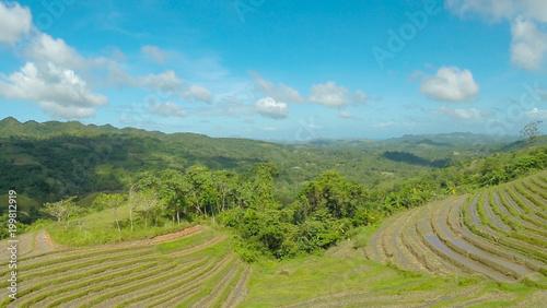 Aluminium Rijstvelden Rice Field Terrace Aerial Shot. Philippines.