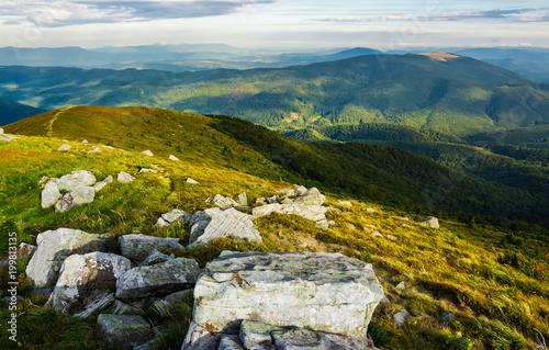 In de dag Blauwe jeans beautiful view of Carpathians in dappled light