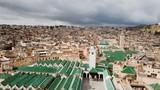 ville de Fès en vue aérienne, Maroc  - 199820561