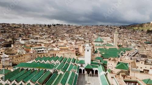 ville de Fès en vue aérienne, Maroc