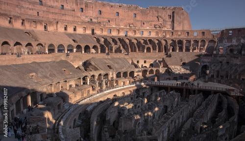 Fotobehang Rome Rzym, Włochy, koloseum