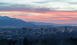 Salt Lake City Utah evening skyline - 199826734