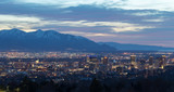 Salt Lake City Utah evening skyline - 199826774